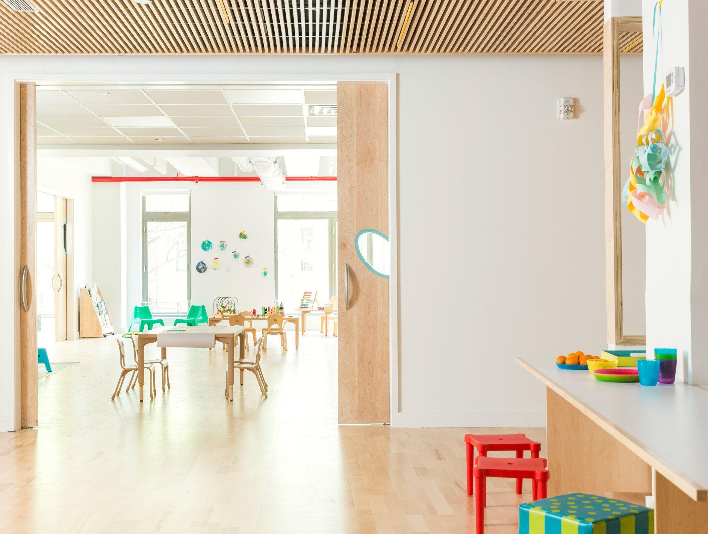 Maple Street School In Brooklyn Features Warm Wood Interiors