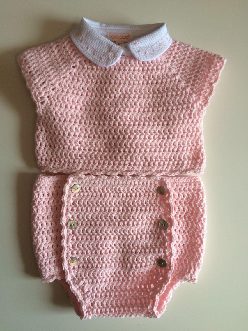 Conjunto para bebé. Algodón. Talla 0-1 mes. | Baby | Pinterest