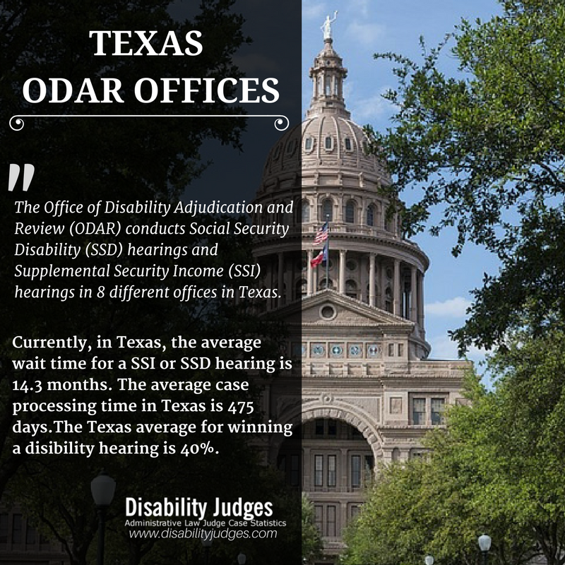 Texas Odar Offices Disability Judges Social Security Disability Administrative Law Supplemental Security Income