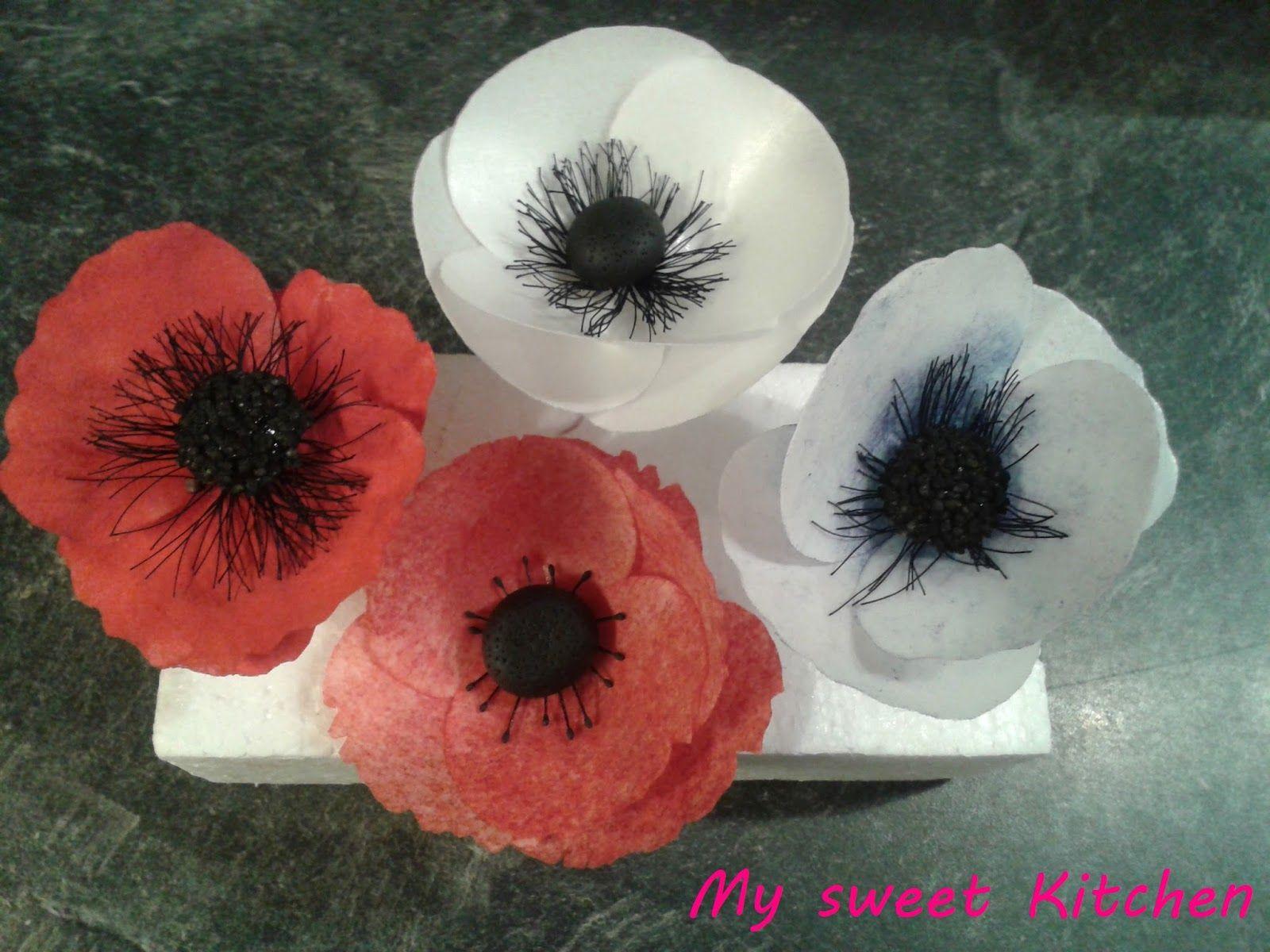 Mohnblumen Anemone Blumen Aus Papier Mohnblume Blumen