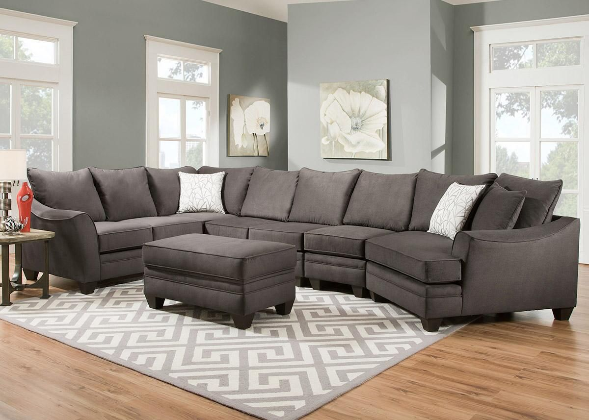 Casa Gray 4 Pc Secional With Cuddler Chelsea Home Furniture Sectional Couch Home