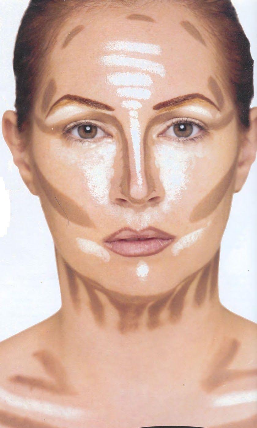 Facial contouring with foundation. | Wedding | Adorn | Pinterest ...
