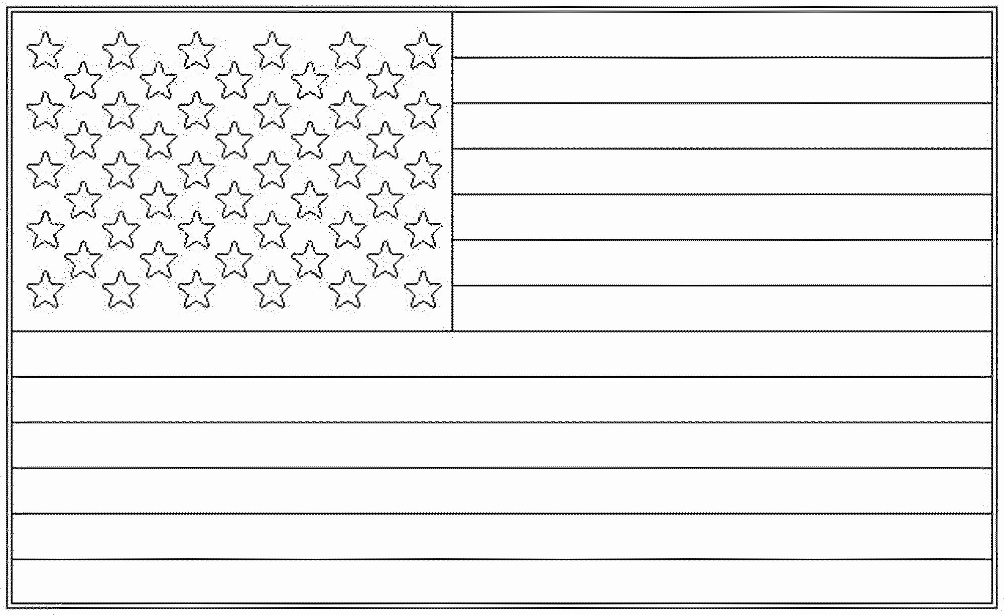 Usa Flag Coloring Pages In