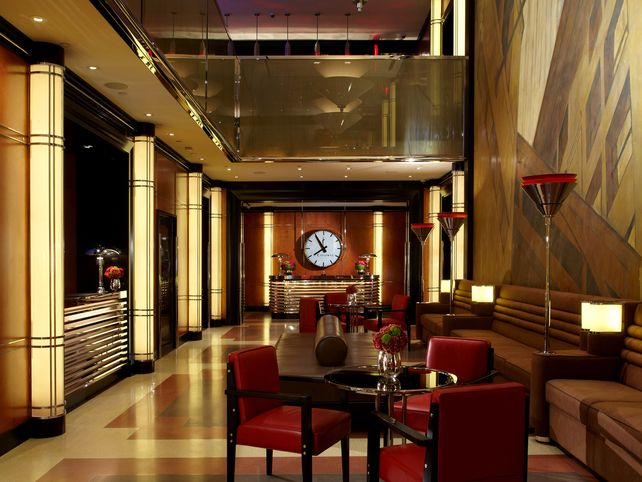Art Deco Interiors Hotel Lobby The Chatwal