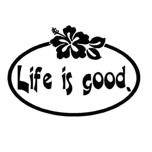 Life Is Good Die Cut Vinyl Decal PV Car Truck Window Decals - Vinyl decals car wash