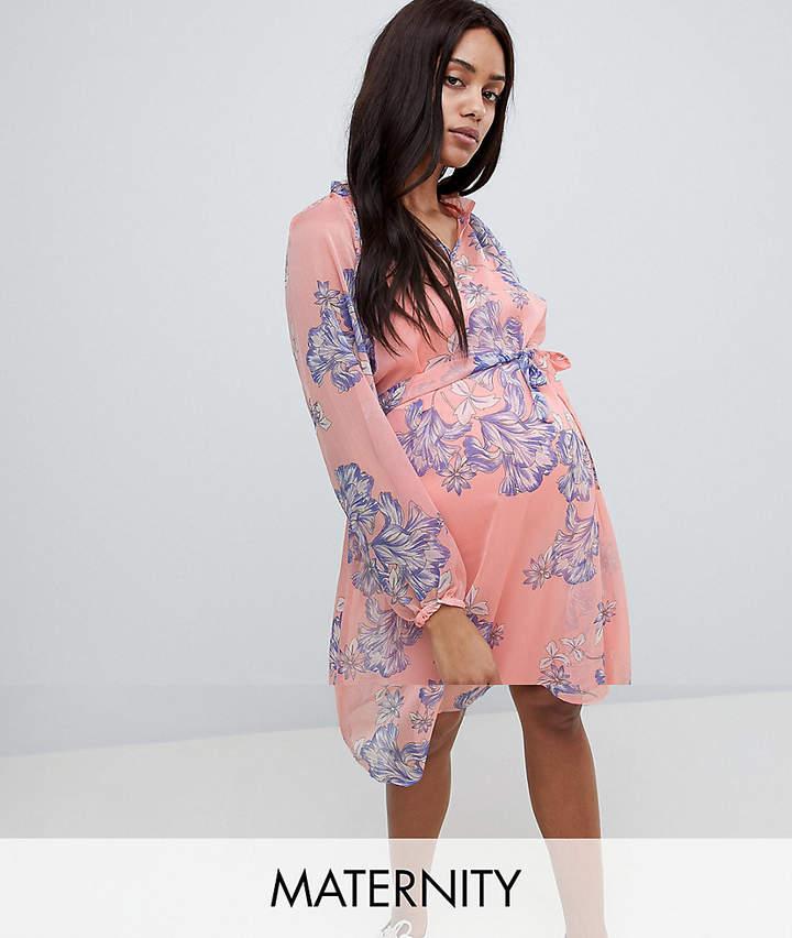 948bdd6e279 Mama.licious Mamalicious Bloom Print Woven Tea Dress
