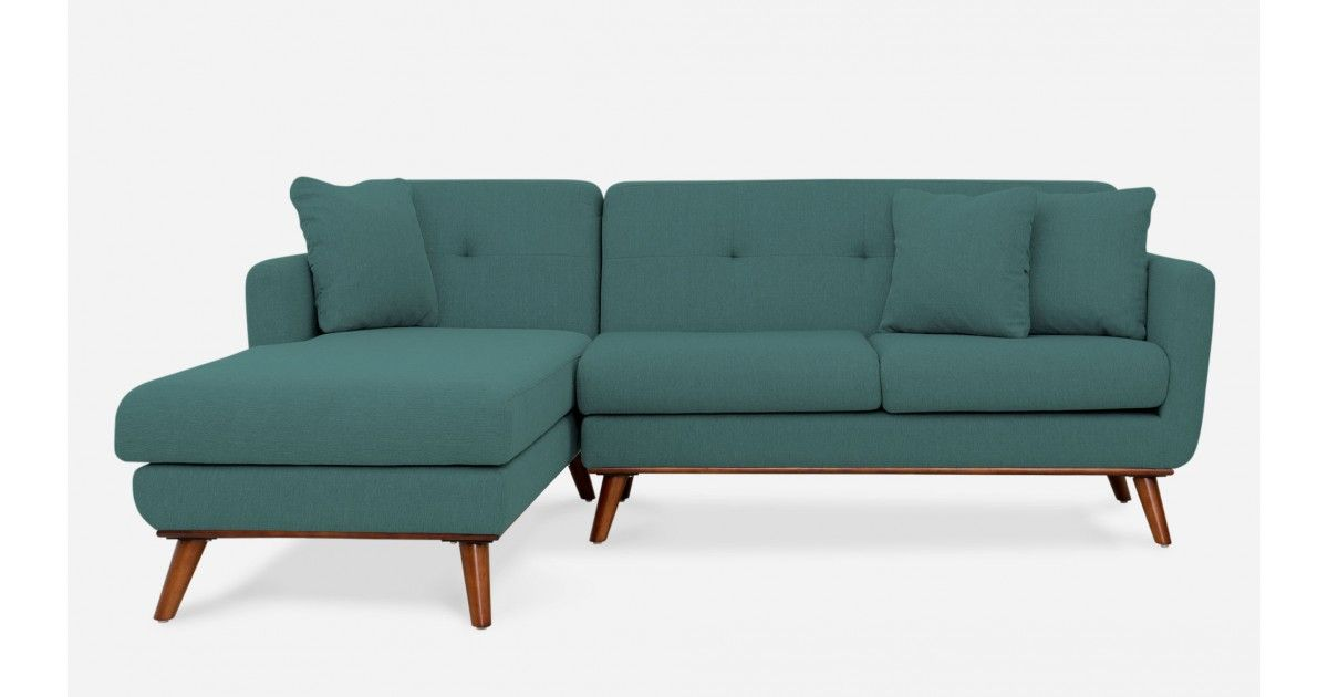 Hanford Sofa Sectional Left Hand Facing, Teal   Sectional Sofas   All  Living Room