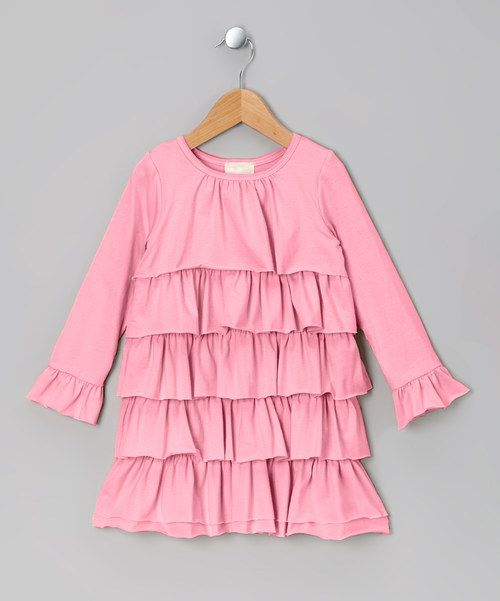Take a look at this Pink Cascade Ruffle Dress - Toddler on zulily today!