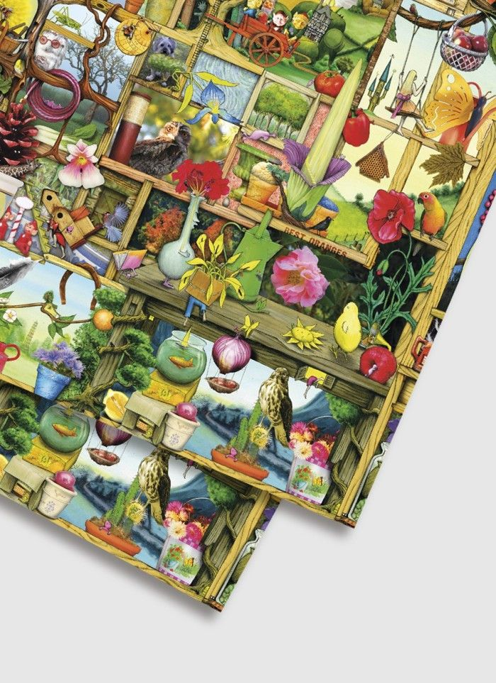 Colin Thompson Wrapping Paper - Garden Cupboard