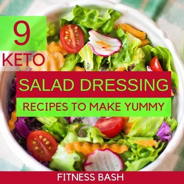 9 Keto Salad Dressing Recipes so Delicious - Fitness Bash -  KETO SALAD DRESSING... -  9 Keto Salad...