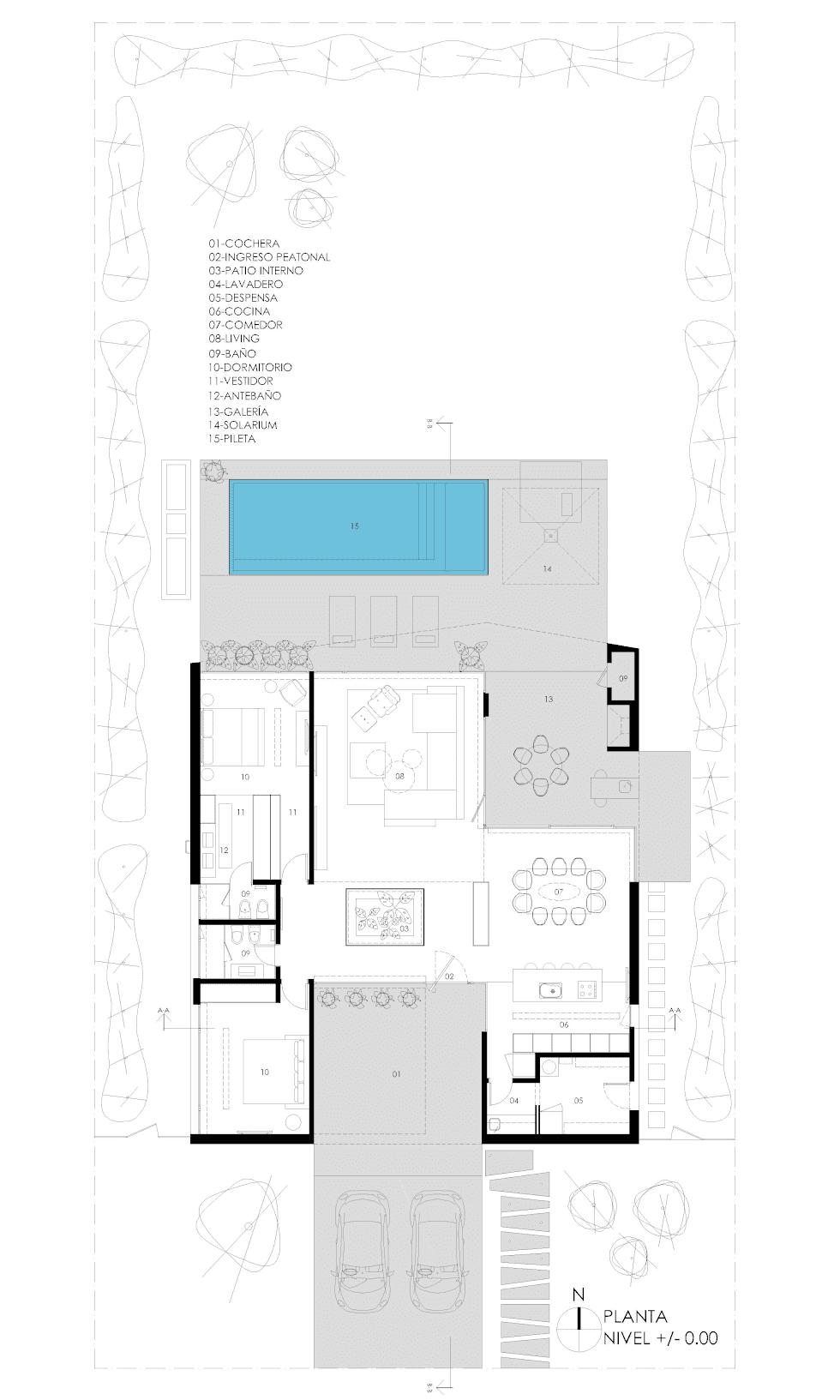 Casa minimalista una planta plano de casa minimalista de for Vivienda minimalista planos