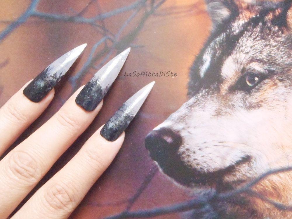 Halloween werewolf witch zombie wolf talons claws long stiletto ...