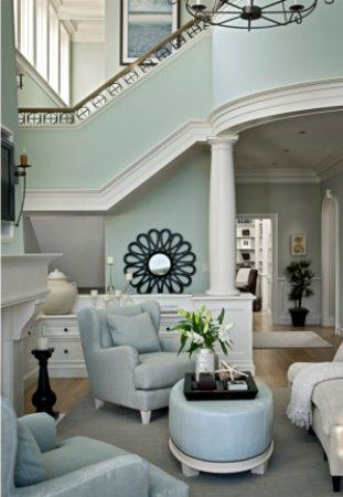 This Is What Sherwin Williams Sea Salt Looks Like In A Room Setting Color Time Post Paint