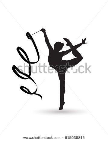 Rhythmic Gymnastic young girl Isolated. Gym kids. Olympic athlete gymnastic.  Gymnastic Ribbon Vector. Artistic gymnastics 7e11e2ee93174