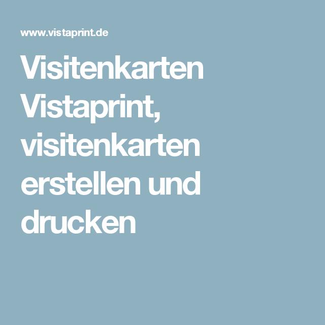 Visitenkarten Vistaprint Visitenkarten Erstellen Und