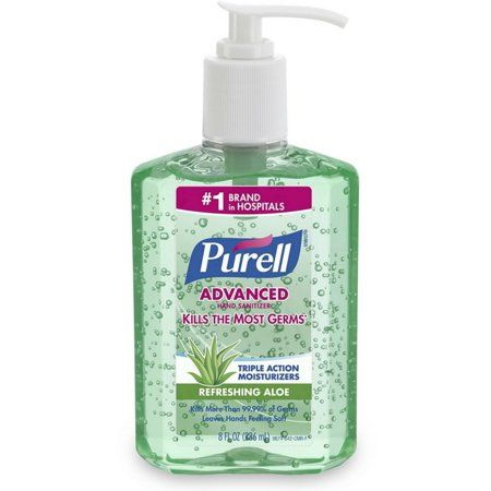 3 Pack Purell Hand Sanitizer With Aloe 8 Oz Cleaners Hand