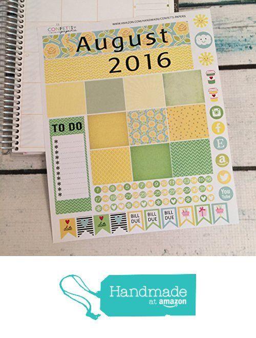 AUGUST Planner Stickers - Monthly Headers - Planner Sticker Bundle - June Collection, Erin Condren Stickers, Life Planner…
