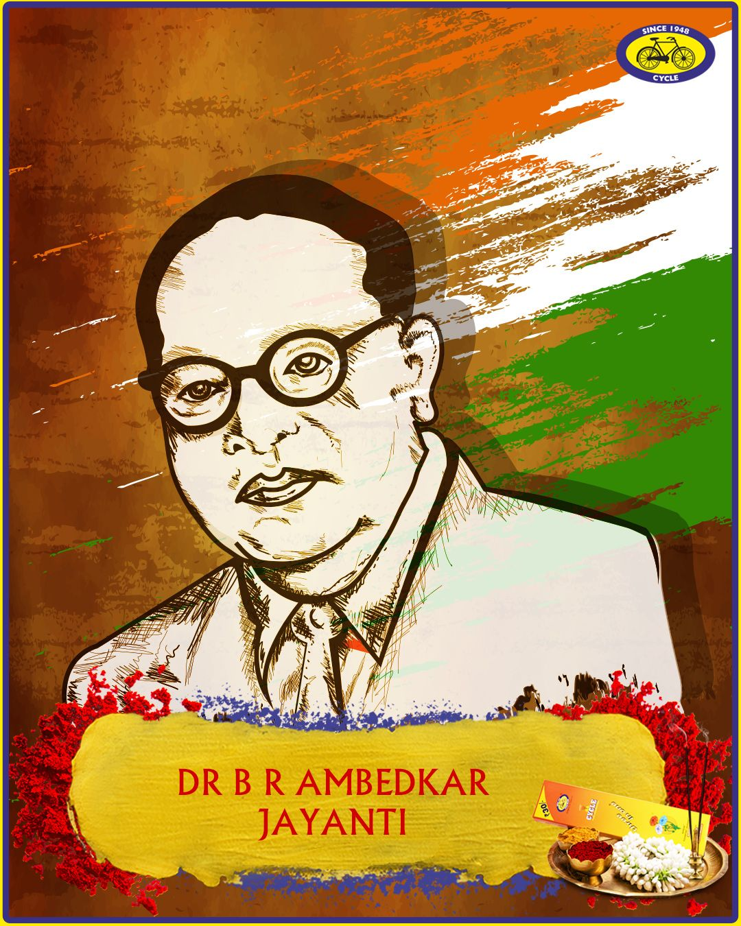 Dr. Bhimrao Ramji Ambedkar was born on 14 April, 1891. He
