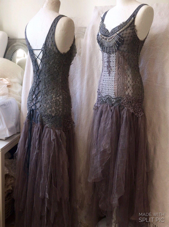 Steampunk wedding dresses  RESERVED  Steampunk wedding dressesdark beauty wedding dress