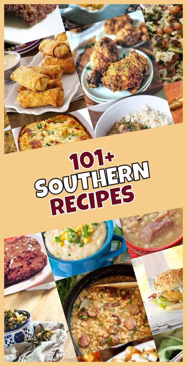 Here are the 101 most popular comfort food southern dishes so far