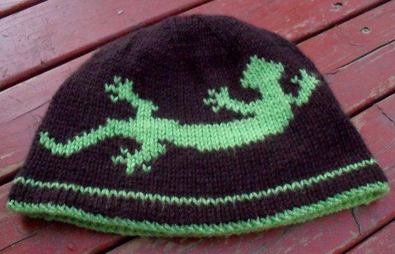 Knitting Gecko Hat Google Search Knitting Pinterest Double