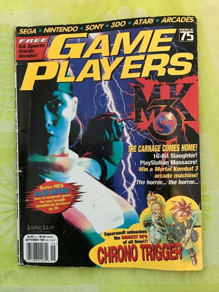 Game Players Magazine Issue 75 Sept 1995 Sony Atari