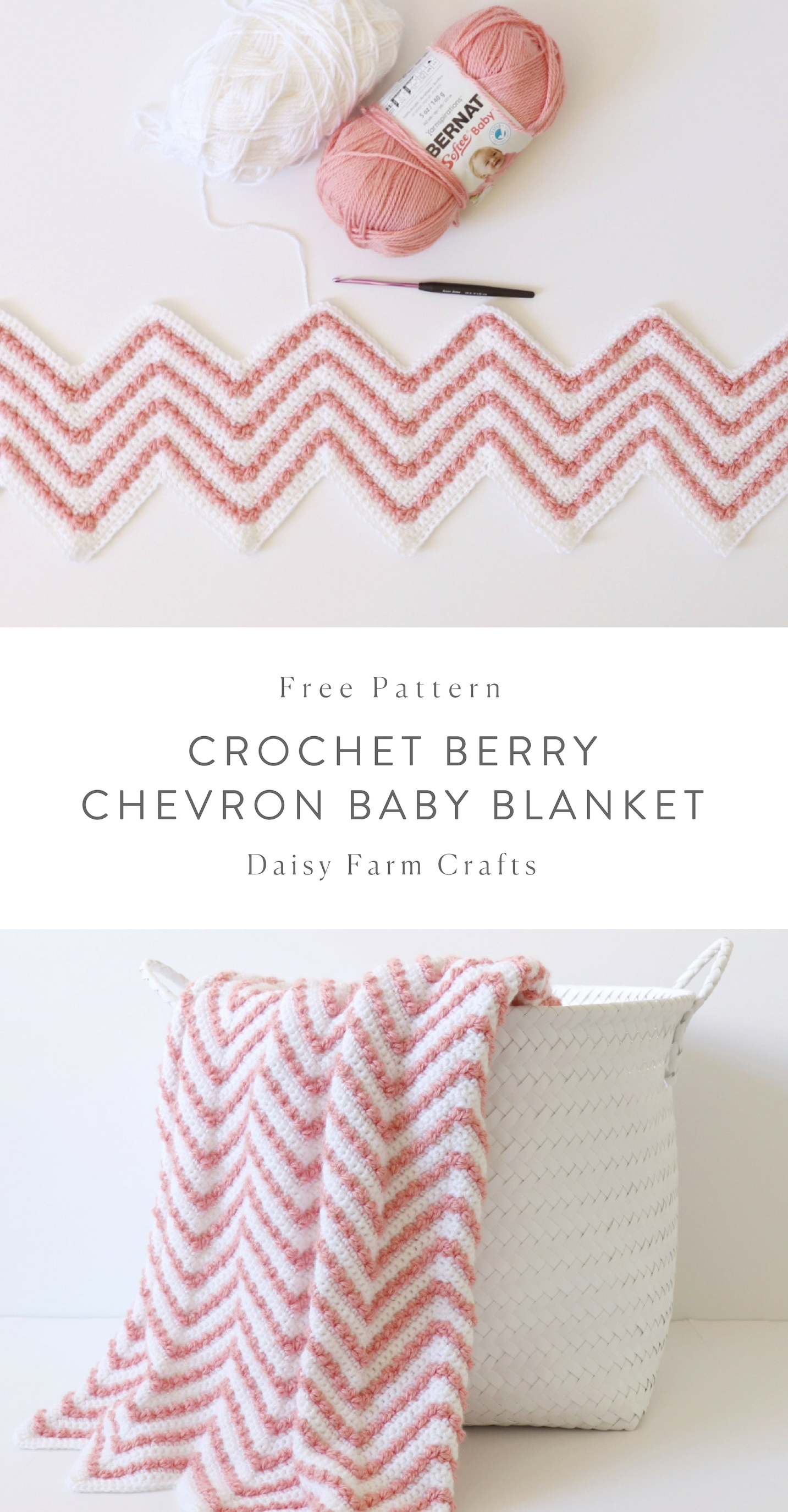 Free Pattern - Crochet Berry Chevron Baby Blanket | Baby Gifts ...