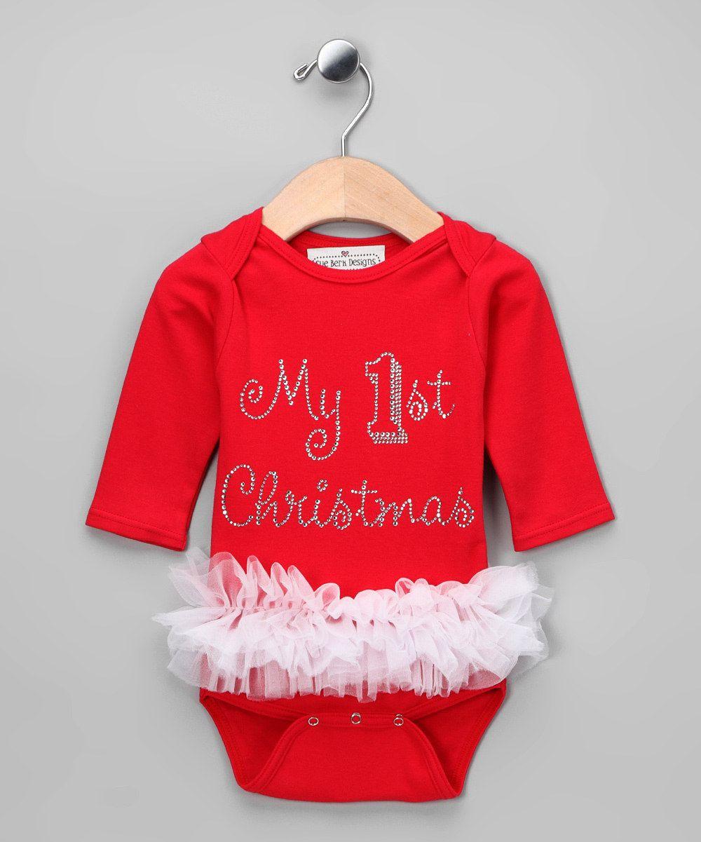 red my 1st christmas tutu bodysuit infant - Girl Stuff For Christmas