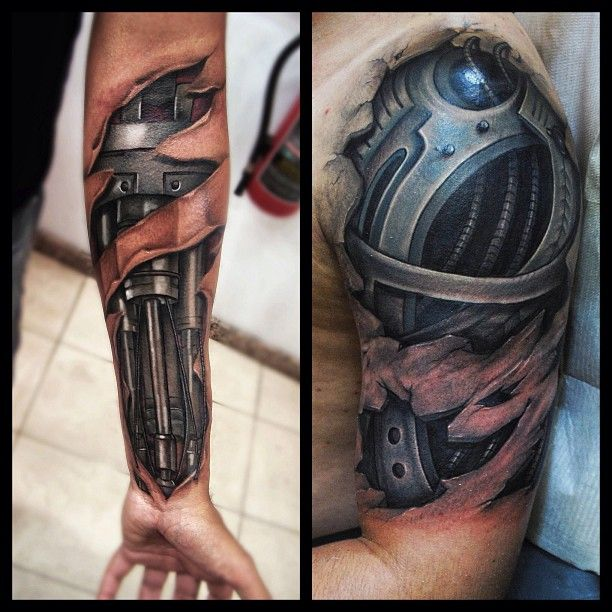 Incredibly detailed tattoos showing off the machine under for Under the skin tattoo