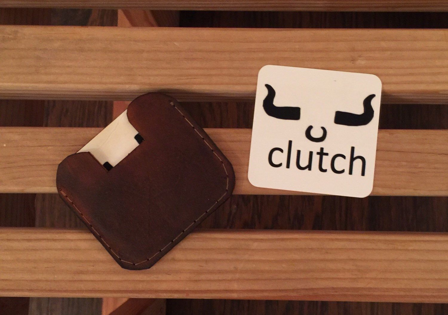 2x2 square business card holder by clutchleather on Etsy https ...