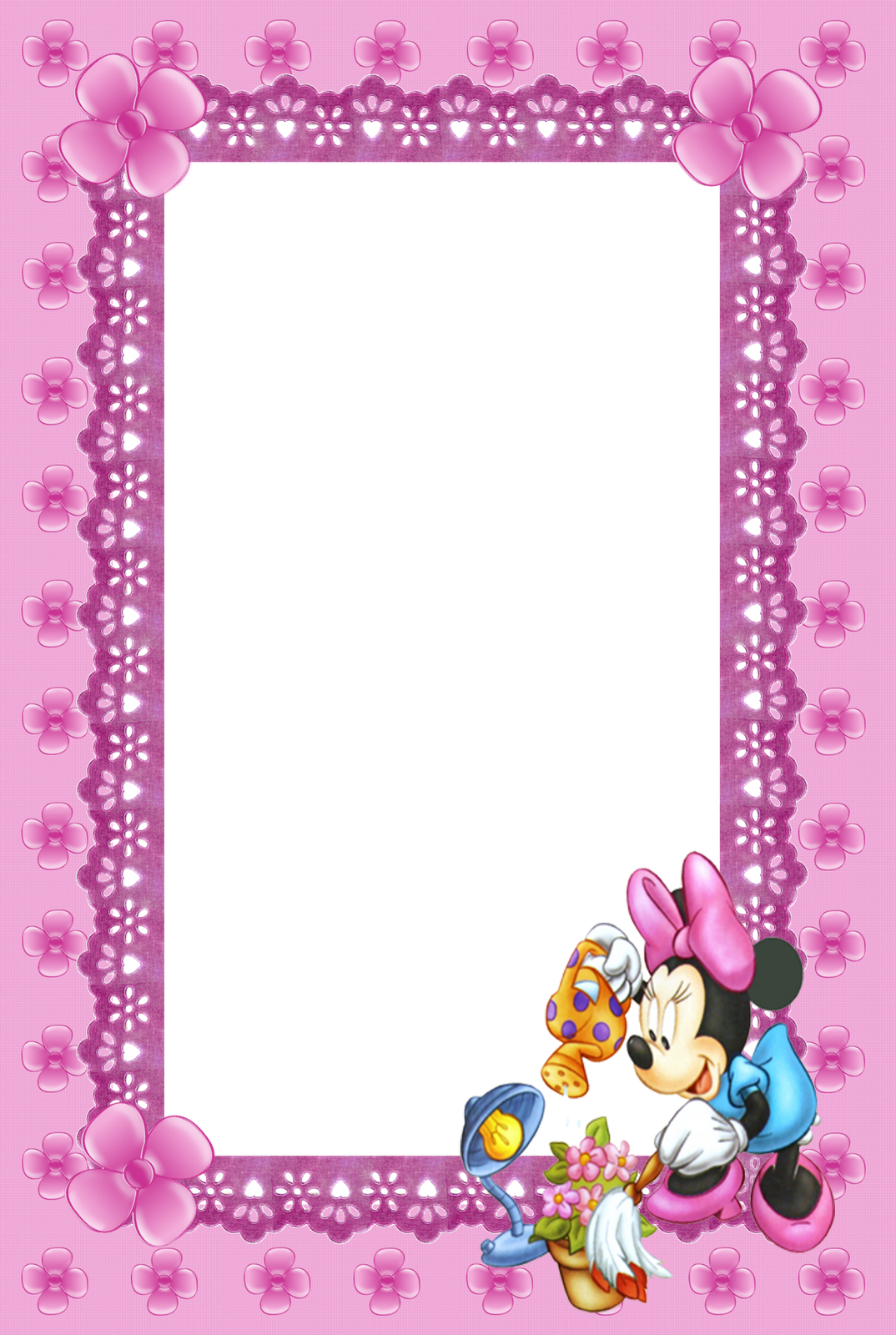 Cute Kids Prink Mini Mouse Transparent Frame | Marcos✨ | Pinterest