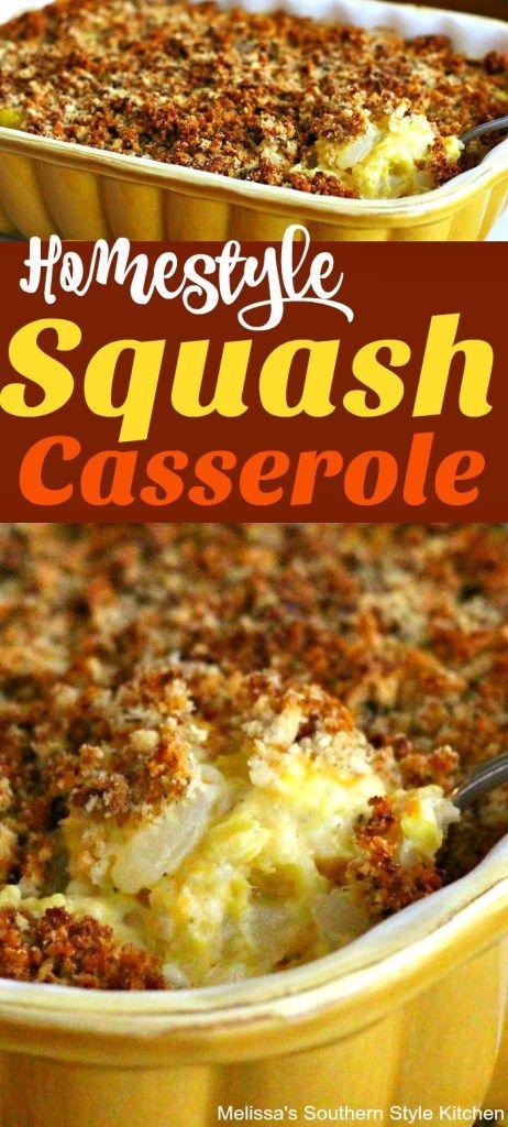 Homestyle Squash Casserole - melissassouthernstylekitchen.com