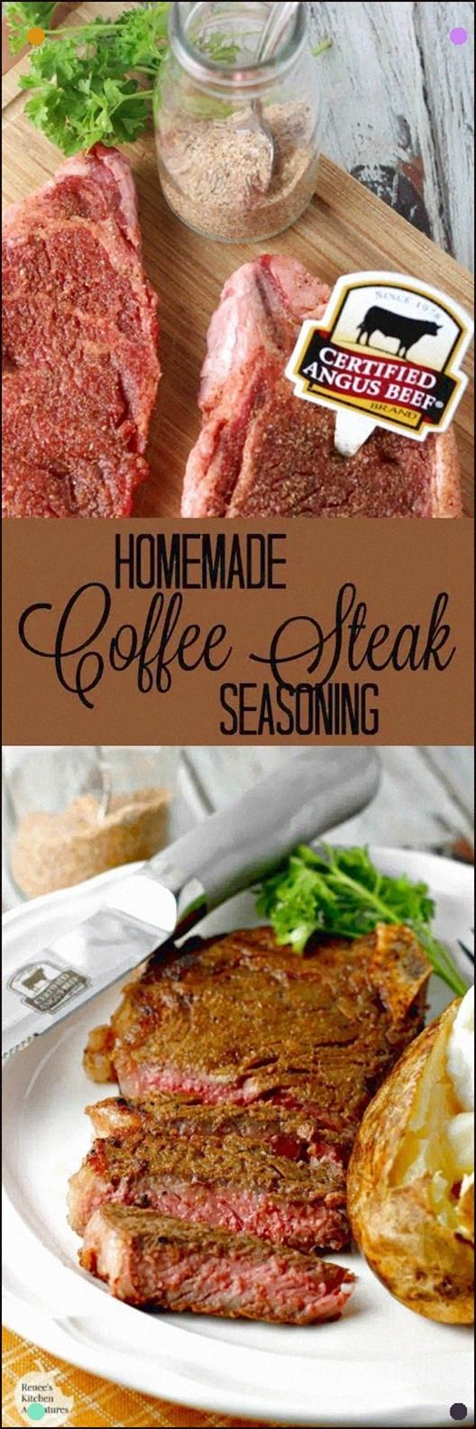 Homemade Coffee Steak Rub By Renee's Kitchen Adventures - Easy Homemade Recipe For A Steak Seasoning Made With Coffee. Immaculate On Steak, Chicken, Pork And More #Sundaysupper #steakrubs Homemade Coffee Steak Rub By Renee's Kitchen Adventures - Easy Homemade Recipe For A Steak Seasoning Made With Coffee. Immaculate On Steak, Chicken, Pork And More #Sundaysupper #steakrubs