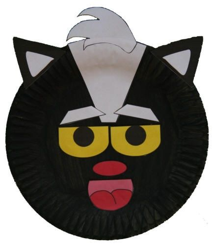 Paper Plate Animals   Paper Plate Skunk Craft from DLTK ...