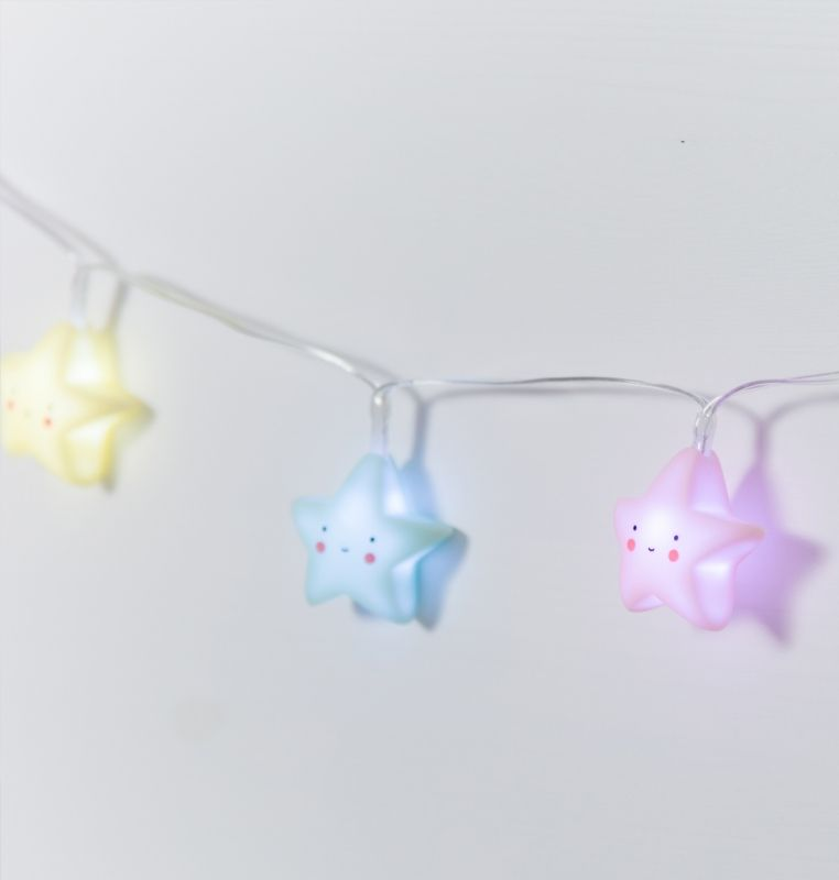 Lovely Lichterkette Sterne Pastell A Little Lovely Company