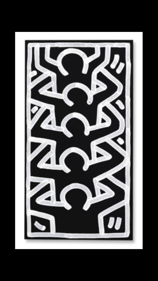 Keith Haring Untitled 1985 Acrylic On Board 62 5 X 34
