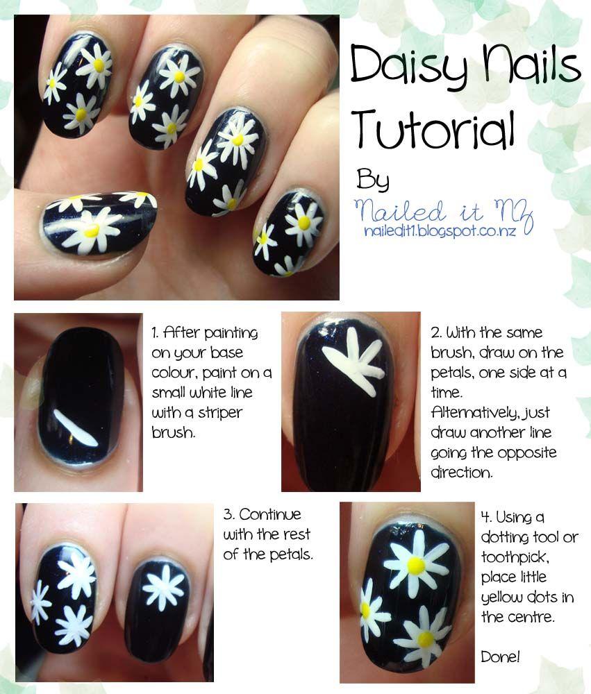 Nail Art Tutorial Daisies Tutorial Daisy Nails Tutorial Flowers
