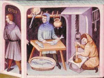 l'alimentazione nel medioevo - il pesce - famose le anguille di