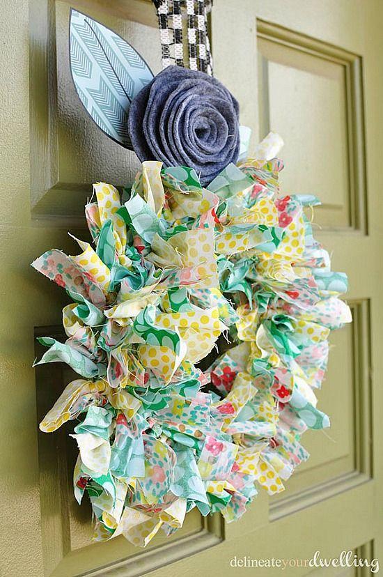 Photo of Summer fabric wreath