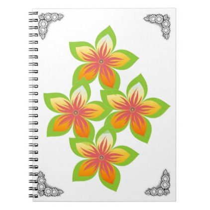 Trendy and vintage flowers Spiral Photo Notebook - pattern sample - sample notebook paper