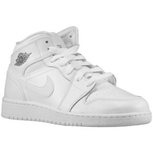 new styles 4418e 1c9ed Jordan AJ1 Mid - Boys  Grade School - White Cool Grey White