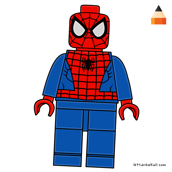 How To Draw How To Draw Lego Spiderman Art Drawing For Kids Lego Spiderman Lego Painting Lego Art