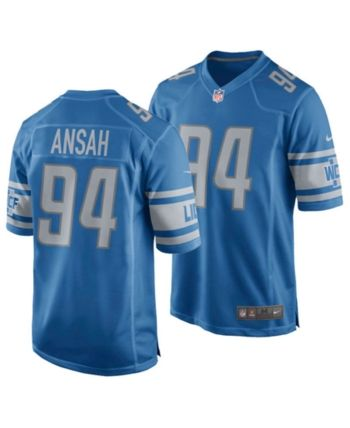 new style 1ed42 92bf5 Nike Men Ezekiel Ansah Detroit Lions Game Jersey | Products ...