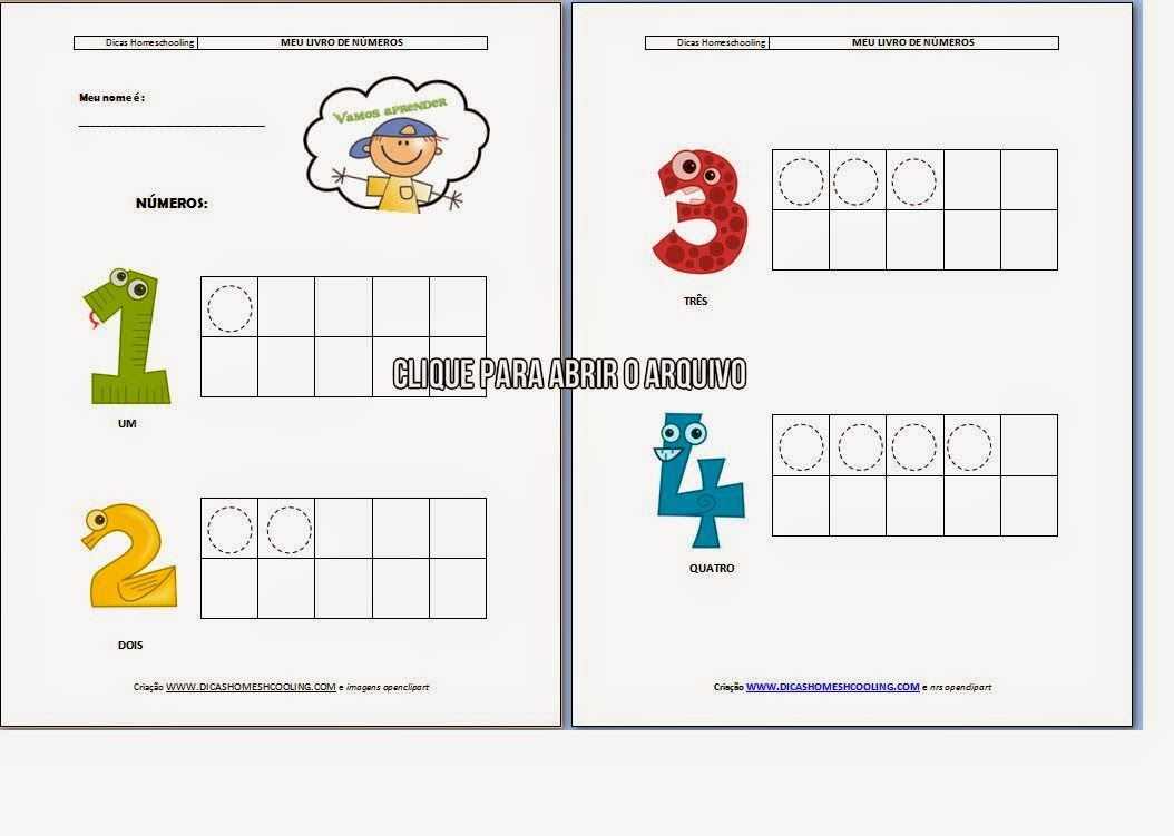 Ativitidade de Matemática para imprimir Quantidades Educação Infantil
