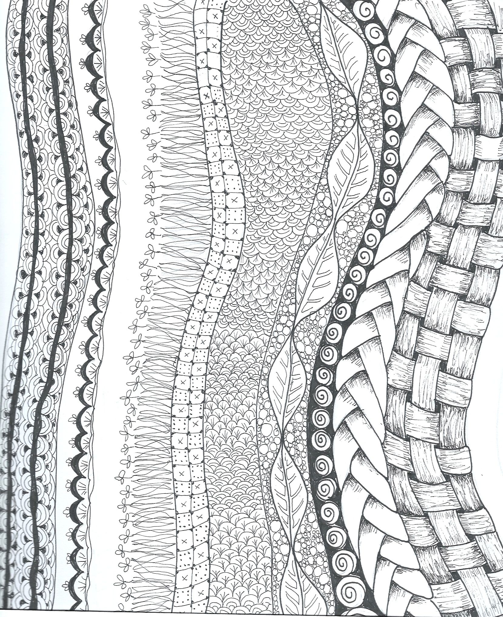 Vertical designs Black and white | My Art Work | Pinterest | Zentangles