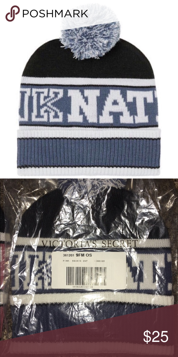 61131013442 🌟BRAND NEW 🌟PINK NATION BLUE BEANIE Brand New Authentic No Tags Inside  Online Packaging