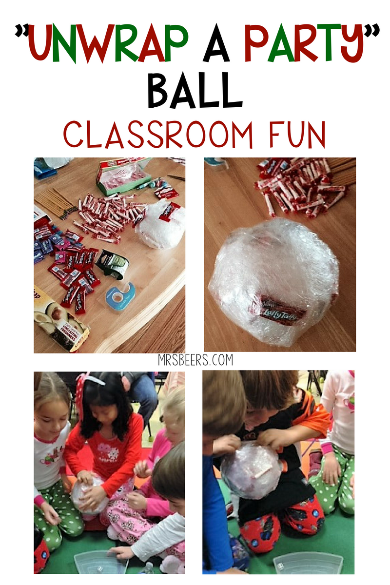 """Classroom Party Game! """"UNWRAP A PARTY"""" BALL   Pinterest   Party fun ..."""