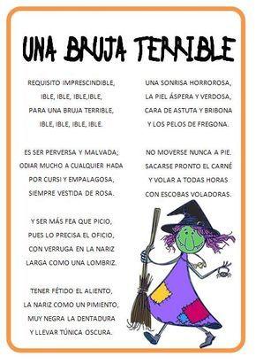 Poema Por El Dia Del Campesino Para Niños De Inicial Poesia Una Bruja Terrible Mas Poemas Para Ninos Poemas Cortos
