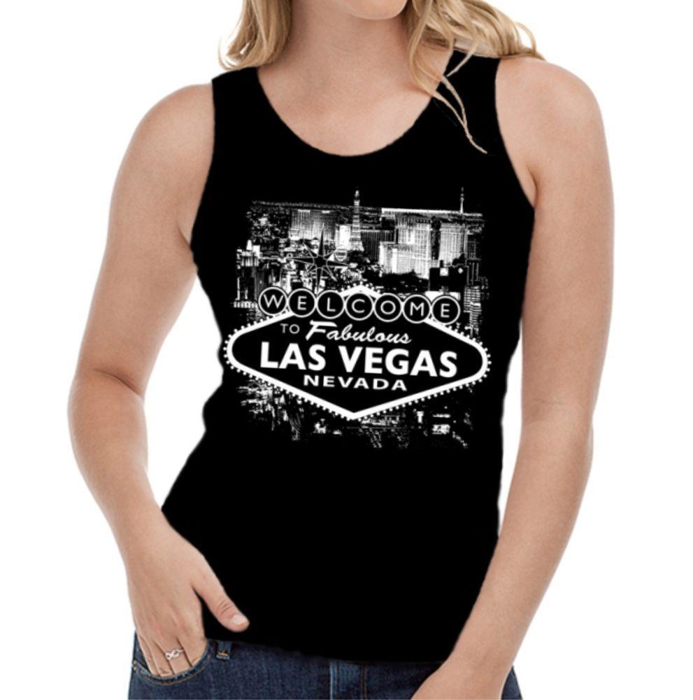 Velocitee Ladies T-Shirt Las Vegas Sign Sin City V142