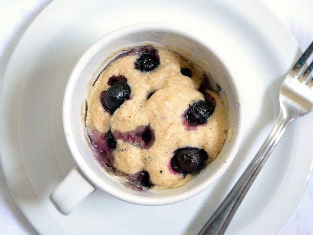Muffin de Mirtilhosem chávena em 7 mins e no microondas